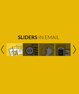 carousel in email, embed slider in email
