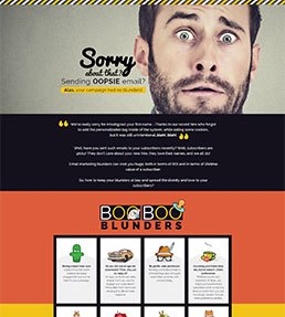 Email marketing Blunders Infographic