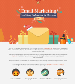 Email Marketing Holiday Calender and Planner 2016-17 - Infographic