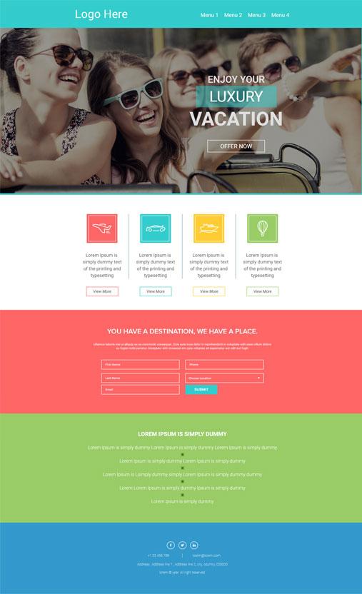 Custom Landing Page Design Coding
