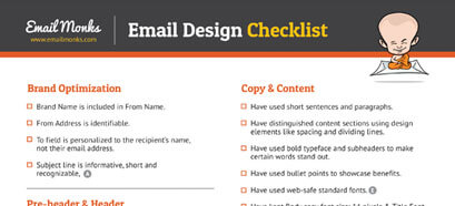 Checklist for Email Design